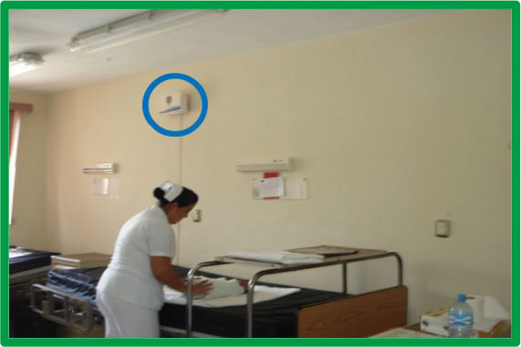 Purificador de ozono para hospitales